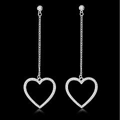 preiswerte Ohrringe-Damen Tropfen-Ohrringe Strass Einfach Klassisch Elegant Süß Aleación Herz Schmuck Geburtstag Verlobung Geschenk Abiball