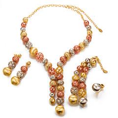 abordables Juegos de Joyería-Mujer Conjunto de joyas - Perla, Chapado en Oro Importante, Moda Incluir Dorado Para Boda Fiesta / Pendientes