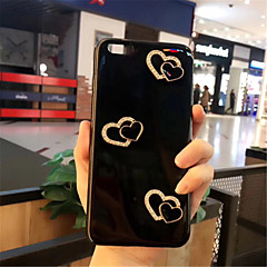Недорогие Кейсы для iPhone 6-Кейс для Назначение Apple iPhone X / iPhone 7 Plus С узором Кейс на заднюю панель С сердцем Мягкий Силикон для iPhone X / iPhone 8 Pluss / iPhone 8