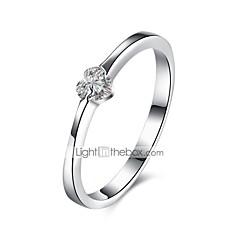 preiswerte Ringe-Damen Bandring - Sterling Silber, Zirkon, vergoldet Klassisch 8 Silber Für Alltag / Arbeit