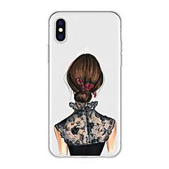 Недорогие Кейсы для iPhone 5-Кейс для Назначение Apple iPhone X / iPhone 8 Plus С узором Кейс на заднюю панель Соблазнительная девушка / Мультипликация Мягкий ТПУ для iPhone X / iPhone 8 Pluss / iPhone 8
