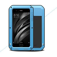 Недорогие Чехлы и кейсы для Xiaomi-Кейс для Назначение Xiaomi Mi 6 Вода / Грязь / Надежная защита от повреждений Чехол Сплошной цвет Твердый Металл для Xiaomi Mi 6