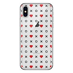 Недорогие Кейсы для iPhone-Кейс для Назначение Apple iPhone X / iPhone 8 Plus С узором Кейс на заднюю панель Плитка / Слова / выражения / С сердцем Мягкий ТПУ для iPhone X / iPhone 8 Pluss / iPhone 8