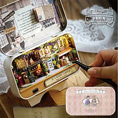 abordables Casas de Muñecas y Accesorios-In A Happy Corner 3D Wooden DIY Handmade Box Exquisito Tema Clásico Caja Clásico Piezas Niños Chica Juguet Regalo