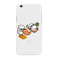 Недорогие Кейсы для iPhone X-Кейс для Назначение Apple iPhone X / iPhone 8 Plus С узором Кейс на заднюю панель Продукты питания / Мультипликация Мягкий ТПУ для iPhone X / iPhone 8 Pluss / iPhone 8