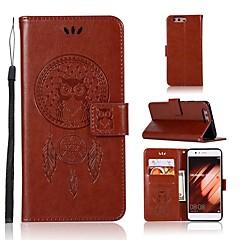 お買い得  Huawei Pシリーズケース/ カバー-ケース 用途 Huawei P20 lite P20 カードホルダー ウォレット フリップ フルボディーケース フクロウ ハード PUレザー のために Huawei P20 lite Huawei P20 P10 Plus P10 Lite P10 Huawei P9