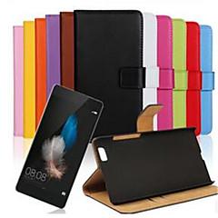 halpa Huawei kotelot / kuoret-Etui Käyttötarkoitus Huawei P8 Huawei Huawei P8 Lite P8 Lite P8 Huawei kotelo Korttikotelo Lomapkko Tuella Flip Suojakuori Yhtenäinen väri