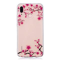 billige Nyheder-Etui Til Huawei P20 lite P20 Pro IMD Transparent Mønster Bagcover Blomst Blødt TPU for Huawei P20 lite Huawei P20 Pro Huawei P20 P10 Plus