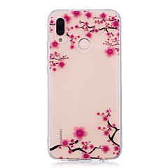 abordables Carcasas / Fundas para Huawei-Funda Para Huawei P20 lite P20 Pro IMD Transparente Diseños Funda Trasera Flor Suave TPU para Huawei P20 lite Huawei P20 Pro Huawei P20