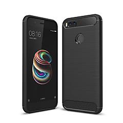 Недорогие Чехлы и кейсы для Xiaomi-Кейс для Назначение Xiaomi Mi 5X Матовое Кейс на заднюю панель Однотонный Мягкий ТПУ для Xiaomi Mi 5X Xiaomi A1