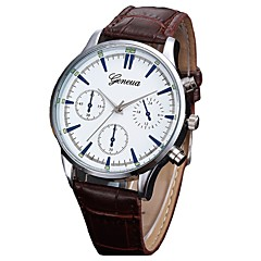 voordelige Herenhorloges-Heren Kwarts Dress horloge Modieus horloge Chinees Chronograaf PU Band Elegant Zwart Bruin