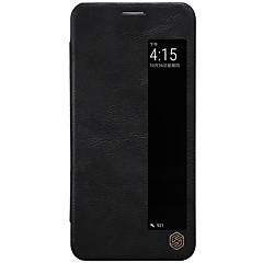 abordables Novedades-Funda Para Huawei P20 Pro P20 con Ventana Flip Activación al abrir / Reposo al cerrar Funda de Cuerpo Entero Un Color Dura Cuero de PU