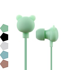 preiswerte Headsets und Kopfhörer-Bear100 Karikaturkopfhörer 3.5mm In-Ohr Sportmusik reizender Kopfhörer gute Kinderkinder tragen Geschenk für Samsung xiaomi mp3 mp4 Spieler