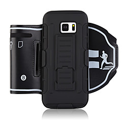 Недорогие Универсальные чехлы и сумочки-Кейс для Назначение SSamsung Galaxy S8 S7 edge Спортивныеповязки Бумажник для карт Защита от удара С ремешком на руку Однотонный Мягкий