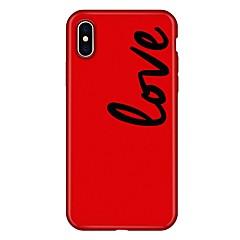 お買い得  iPhone 5S/SE ケース-ケース 用途 Apple iPhone X iPhone 8 Plus パターン バックカバー ワード/文章 カートゥン ソフト TPU のために iPhone X iPhone 8 Plus iPhone 8 iPhone 7 Plus iPhone 7 iPhone