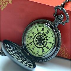 preiswerte Herrenuhren-Herrn Paar Armbanduhren für den Alltag Modeuhr Taschenuhr Quartz Armbanduhren für den Alltag Cool Legierung Band Analog Retro Freizeit Silber - Schwarz / Gelb Schwarz / Weiß