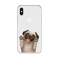 お買い得  iPhone 5S/SE ケース-ケース 用途 Apple iPhone X / iPhone 8 Plus パターン バックカバー 犬 / 動物 / カートゥン ソフト TPU のために iPhone X / iPhone 8 Plus / iPhone 8