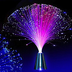 preiswerte Ausgefallene LED-Beleuchtung-hkv® LED Fiber Optic Nachtlicht Lampe Farbwechsel kleine Nachtlicht Hochzeit Weihnachtsfeier Heimtextilien