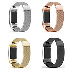 billige -Urrem for Fitbit Charge 2 Fitbit Milanesisk rem Metal / Rustfrit stål Håndledsrem