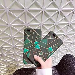 Недорогие Кейсы для iPhone 7-Кейс для Назначение Apple iPhone X iPhone 8 Матовое С узором Кейс на заднюю панель Геометрический рисунок Твердый ПК для iPhone X iPhone
