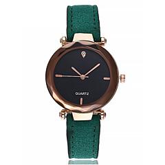 preiswerte Damenuhren-Damen Armband-Uhr Imitation Diamant Leder Band Analog Armreif Elegant Schwarz / Rot / Grün - Rot Grün Rosa Ein Jahr Batterielebensdauer