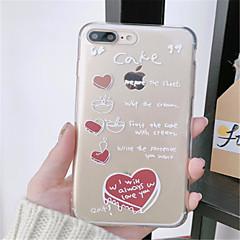 Недорогие Кейсы для iPhone X-Кейс для Назначение Apple iPhone X / iPhone 7 Plus С узором Кейс на заднюю панель Слова / выражения Мягкий ТПУ для iPhone X / iPhone 8 Pluss / iPhone 8