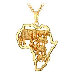 preiswerte Halsketten-Herrn / Damen Anhängerketten - Modisch Gold 55 cm Modische Halsketten Schmuck Für Alltag
