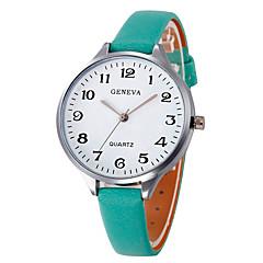 お買い得  レディース腕時計-女性用 リストウォッチ 中国 大きめ文字盤 レザー バンド Elegant / バングル ブラック / 白 / ブラウン
