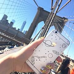 Недорогие Кейсы для iPhone-Кейс для Назначение Apple iPhone X iPhone 8 Plus Прозрачный С узором Кейс на заднюю панель Цвет неба Мягкий ТПУ для iPhone X iPhone 8