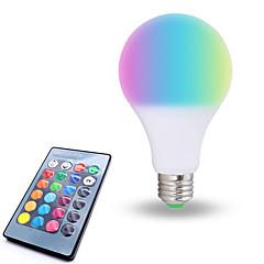 preiswerte LED-Birnen-1pc 10W 800lm E26 / E27 LED Kugelbirnen 6 LED-Perlen SMD 5050 Abblendbar Dekorativ Ferngesteuert RGB Weiß 85-265V