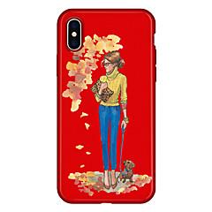 Недорогие Кейсы для iPhone 7 Plus-Кейс для Назначение Apple iPhone X iPhone 8 Plus С узором Кейс на заднюю панель С собакой Соблазнительная девушка Мультипликация Мягкий
