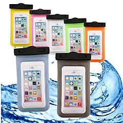 halpa Universaalit kotelot ja laukut-Etui Käyttötarkoitus Apple iPhone 6 iPhone 7 Lomapkko Vedenkestävä Läpinäkyvä Pikku pussi Yhtenäinen Pehmeä ABS + PC varten iPhone X