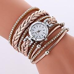 preiswerte Damenuhren-Damen Modeuhr Chinesisch Imitation Diamant PU Band Freizeit / Modisch Schwarz / Weiß / Blau / Ein Jahr