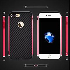 Недорогие Кейсы для iPhone 7 Plus-Кейс для Назначение Apple iPhone 8 iPhone 8 Plus Защита от удара Покрытие броня Кейс на заднюю панель броня Твердый Металл для iPhone 8