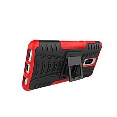 Недорогие Чехлы и кейсы для Huawei Mate-Кейс для Назначение Huawei Mate 10 lite / Mate 9 Pro Защита от удара / со стендом / броня Кейс на заднюю панель Плитка / броня Твердый ПК для Mate 10 lite / Huawei Mate 8 / Mate 9