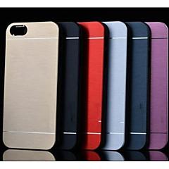 Недорогие Кейсы для iPhone 4s / 4-Кейс для Назначение Apple iPhone 6 iPhone 7 броня Кейс на заднюю панель Однотонный Твердый Нержавеющая сталь для iPhone X iPhone 8 Pluss