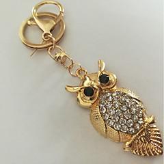 preiswerte Schlüsselanhänger-Eule Schlüsselanhänger Gold Diamantimitate, Aleación Tiere, Modisch Für Alltag