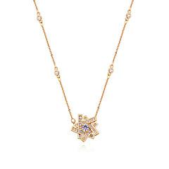 preiswerte Halsketten-Damen Kubikzirkonia Anhängerketten  -  Zirkon Stern Europäisch, Modisch Gold, Silber, Rotgold 40 cm Modische Halsketten Für Normal