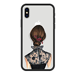 Недорогие Кейсы для iPhone 5-Кейс для Назначение Apple iPhone X iPhone 8 Plus С узором Кейс на заднюю панель Мультипликация Твердый Акрил для iPhone X iPhone 8 Pluss