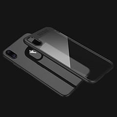 Недорогие Кейсы для iPhone X-Кейс для Назначение Apple iPhone X iPhone X Защита от удара Прозрачный Кейс на заднюю панель Сплошной цвет Твердый ПК для iPhone X