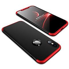 Недорогие Кейсы для iPhone-Кейс для Назначение Apple iPhone X iPhone 8 Защита от удара Матовое Кейс на заднюю панель Однотонный Твердый ПК для iPhone X iPhone 8