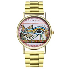 お買い得  メンズ腕時計-女性用 日本産 クロノグラフ付き / 大きめ文字盤 / クール ステンレス バンド カモフラージュ ゴールド