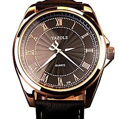 お買い得  メンズ腕時計-男性用 軍用腕時計 日本産 クォーツ 30 m 夜光計 カジュアルウォッチ 本革 バンド ハンズ ファッション ブラック / ブラウン - ホワイト ブラック Brown 1年間 電池寿命