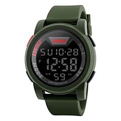 お買い得  メンズ腕時計-SKMEI 男性用 デジタル デジタルウォッチ ファッションウォッチ スポーツウォッチ カレンダー 耐水 大きめ文字盤 ストップウォッチ LCD ラバー バンド カジュアル クール クローバー