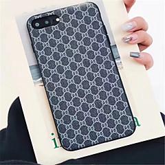 Недорогие Кейсы для iPhone-Кейс для Назначение Apple iPhone X iPhone 7 Plus С узором Кейс на заднюю панель Полосы / волосы Твердый Кожа PU для iPhone X iPhone 8