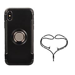 Недорогие Кейсы для iPhone-Кейс для Назначение Apple iPhone X Кольца-держатели Чехол броня Твердый ПК для iPhone X