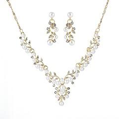 voordelige Sieradensets-Dames Sieraden set - Bladvorm Europees omvatten Goud / Zilver Voor Bruiloft / Ceremonie / Oorbellen