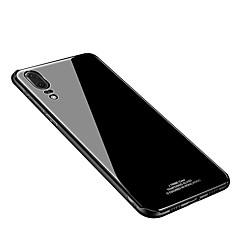 お買い得  Huawei Pシリーズケース/ カバー-ケース 用途 Huawei P20 lite P20 IMD ミラー バックカバー ソリッド ハード 強化ガラス のために Huawei P20 lite Huawei P20 Pro Huawei P20
