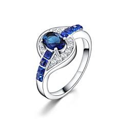 preiswerte Ringe-Damen Statement-Ring - Krystall, Zirkon, versilbert Erklärung, Modisch 6 / 7 / 8 / 9 / 10 Grün / Blau / Rosa Für Alltag