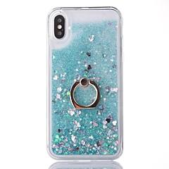 Недорогие Кейсы для iPhone X-Кейс для Назначение Apple iPhone X / iPhone 8 Движущаяся жидкость / Кольца-держатели Кейс на заднюю панель Сияние и блеск Твердый ПК для iPhone X / iPhone 8 Pluss / iPhone 8